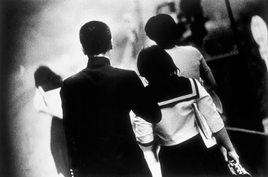 Daido Moriyama, Untitled (Students in Crowd)