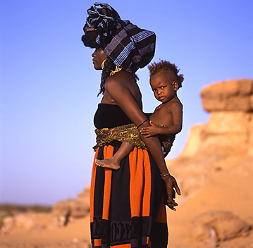 Laurent Elie Badessi, Peul Bororo in Marithé & François Girbaud with Child, Niger